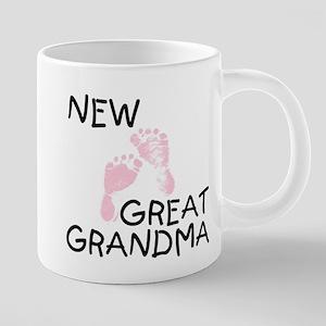 New Great Grandma (pink) Mugs