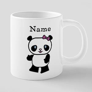 Personalize Panda Girl Mugs