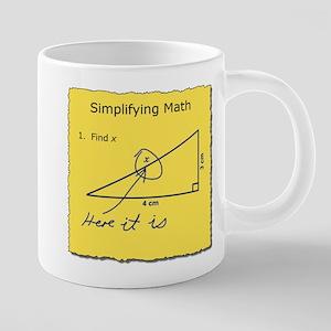Simplifying Math 20 oz Ceramic Mega Mug