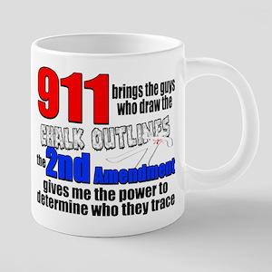 911 Chalk Outlines 20 oz Ceramic Mega Mug