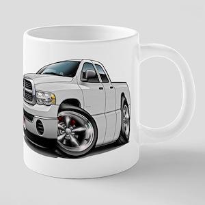 Dodge Ram White Dual Cab Mugs