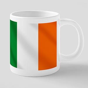 Irish Flag 20 oz Ceramic Mega Mug