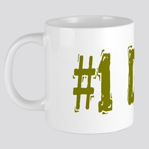 #1 Dad in olive 20 oz Ceramic Mega Mug