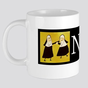 Funny Nun Greeting Cards 20 oz Ceramic Mega Mug