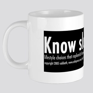 know slow mug 20 oz Ceramic Mega Mug