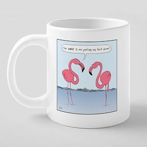 flamingosMug 20 oz Ceramic Mega Mug