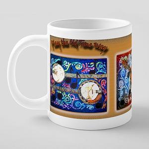 PlayOTMUGBlue 20 oz Ceramic Mega Mug