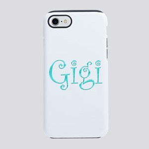 Gigi Glitter & Sparkle (Turquo iPhone 7 Tough Case