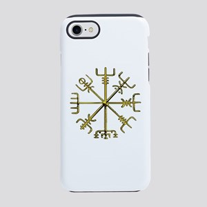 Gold Vegvisir - Viking Compass iPhone 7 Tough Case