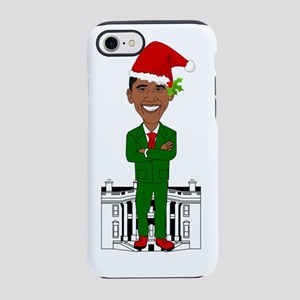 barack obama santa claus iPhone 8/7 Tough Case