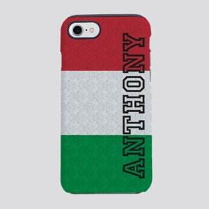 Monogram Italian Flag Damask iPhone 7 Tough Case