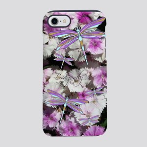 Dragonfly Flowers iPhone 7 Tough Case