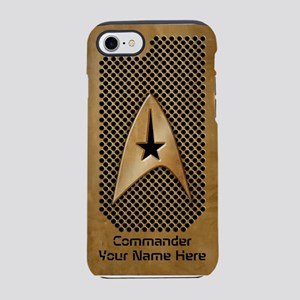 Personalized Star Trek Retro Grid iPhone 7 Tough C