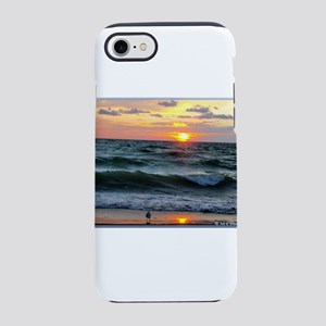 Sunset, seagull, photo! iPhone 7 Tough Case