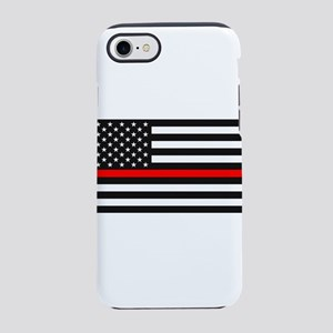 Thin Red Line - American Uni iPhone 8/7 Tough Case