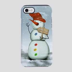 North Pole Bound Snowman iPhone 8/7 Tough Case