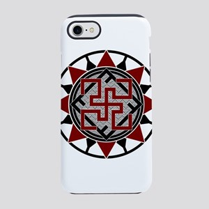Red Valkyrie Slavic Symbol iPhone 8/7 Tough Case