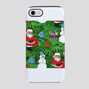 marijuana santa claus iPhone 7 Tough Case