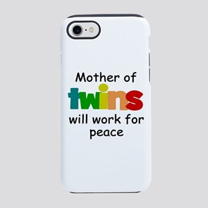 Mom of twins iPhone 8/7 Tough Case