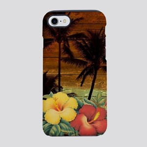 passion flower Palm tree haw iPhone 8/7 Tough Case