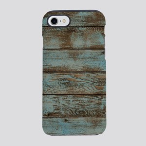 rustic country blue barn woo iPhone 8/7 Tough Case