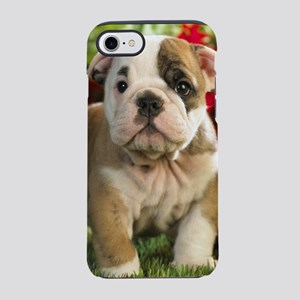 Cute English Bulldog Puppy iPhone 8/7 Tough Case