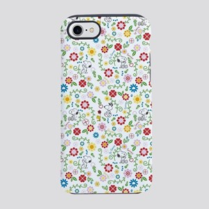 Peanuts Snoopy Spring Pattern iPhone 8/7 Tough Cas