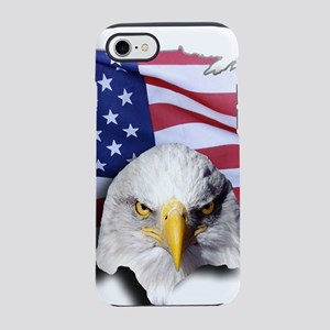 Bald Eagle Over American Fla iPhone 8/7 Tough Case