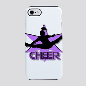 Cheerleader in purple iPhone 8/7 Tough Case