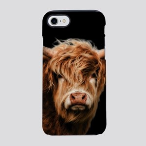 Highland Cow Portrait In Col iPhone 8/7 Tough Case