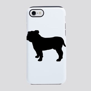 bulldog silhouette iPhone 8/7 Tough Case