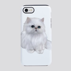 Cute white Persian Cat iPhone 7 Tough Case