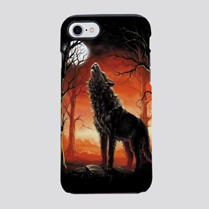 Howling Wolf at Sunset iPhone 7 Tough Case