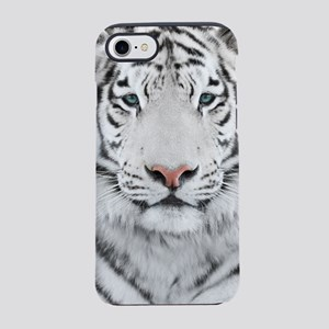 White Tiger Head iPhone 7 Tough Case