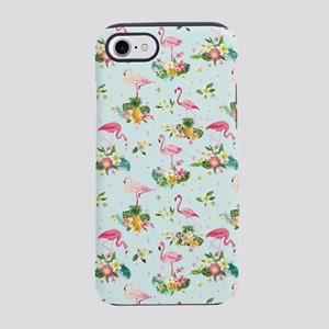Retro Flamingos & Tropical iPhone 7 Tough Case