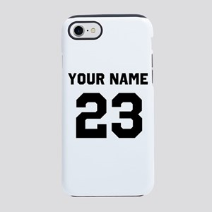Customize sports jersey number iPhone 7 Tough Case