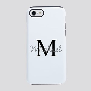 Customize Monogram Initials iPhone 7 Tough Case