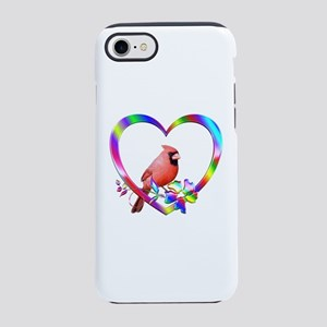 Northern Cardinal In Colorfu iPhone 8/7 Tough Case