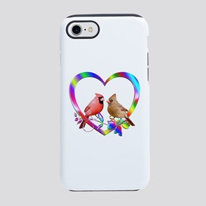 Cardinal Couple In Colorful iPhone 8/7 Tough Case
