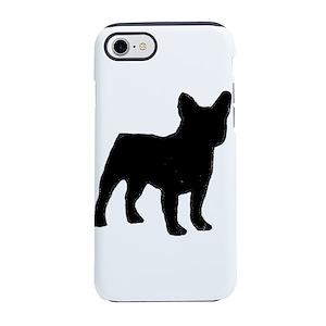 FB silhouette black iPhone 8/7 Tough Case