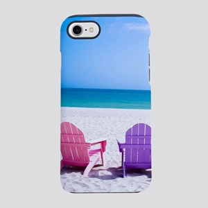 Lounge Chairs On Beach iPhone 8/7 Tough Case