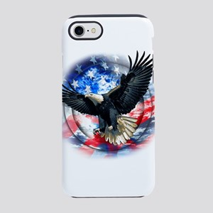 Eagle over American Flag sky iPhone 8/7 Tough Case