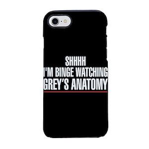 timeless design 78be5 3fd8c Grey's Anatomy Binge Watching iPhone 7 Tough Case