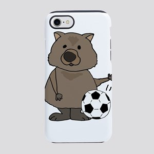 Wombat Playing Soccer iPhone 7 Tough Case
