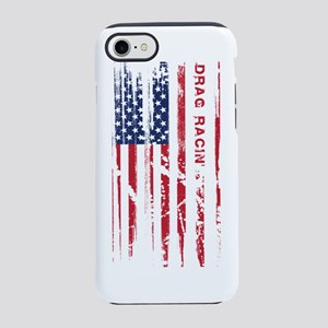 American Drag Racing Flag Pa iPhone 8/7 Tough Case