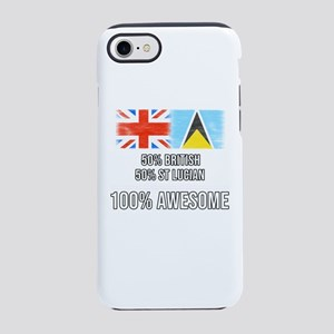 50% British 50% St Lucian 10 iPhone 8/7 Tough Case