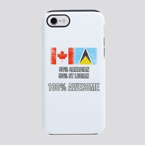 50% Canadian 50% St Lucian 1 iPhone 8/7 Tough Case