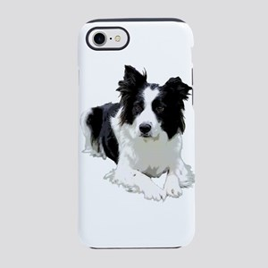 Black and White Border Collie iPhone 7 Tough Case