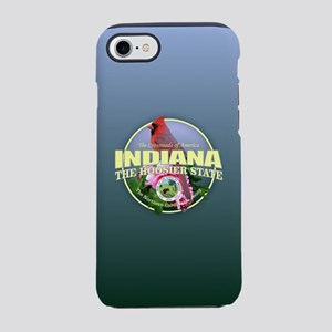 Indiana State Bird & Flower iPhone 7 Tough Case