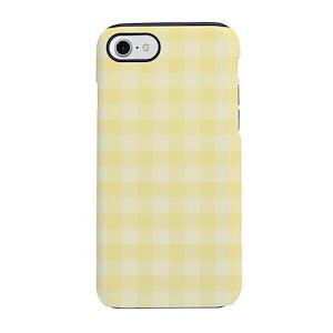 premium selection d4274 6db55 Pastel Yellow Tartan Pattern iPhone 7 Tough Case